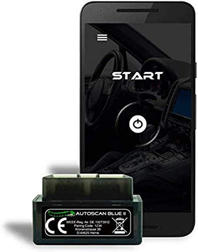 Autogenie 2020 ECHTZEIT-Daten am ANDROID Handy OBD2 Mini Diagnose-Gerät Torque Auto Car PKW KFZ OBD 2 Bluetooth Fehler-Speicher Lesen und Löschen Fehlercode und Batterie Test
