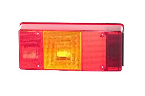 HELLA 9EL 147 096-001 Lichtscheibe, Heckleuchte - Lichtscheibenfarbe: rot - Einbauort: links/rechts