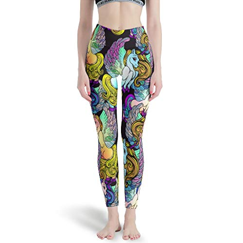 O5KFD & 8 Dames Patroon dunne leggings 4-weg stretch hardloopbroek High Waist broek voor sport workout fitness dames yoga leggings -
