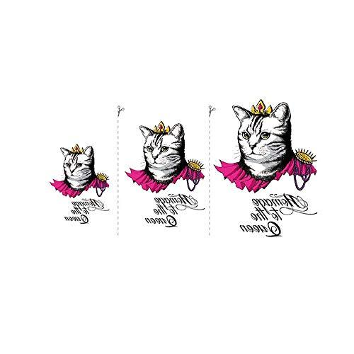 BLTR Imperméable à l'eau Mode de Chat Mignon Autocollants de Tatouage temporaire, adapté for Les Hommes et Les Femmes, imperméables, Amovibles Sexy