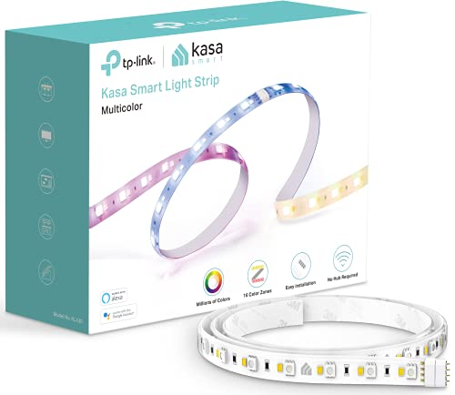 Kasa Smart LED Light Strip KL430, 16 Color Zones RGBIC, 6.6ft Wi-Fi LED Lights Work with Alexa, Google Home &IFTTT, No Hub Required