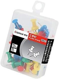 دبابيس ضغط B3547 من كومكس، ملونة، مقاس 10×23 مم، 10 صندوق، 35 قطعة/صندوق
