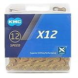 KMC X12 チェーン 12速/12S/12スピード/12speed 用 126Links (ゴールド) [並行輸入品]
