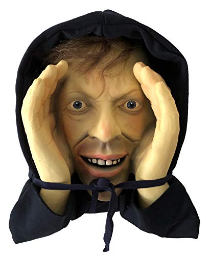 Scary Peeper Freak Halloween Decoration Peeping Tom, Indoor and Outdoor Window Hanging Mask for Spooky House Party Scares, Tricks, and Laughs, Novelty Décor
