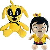 25cm Mikecrack Mike-Mikecrack Peluches Perro amarillo Muñecos de peluche suaves (2pcs)