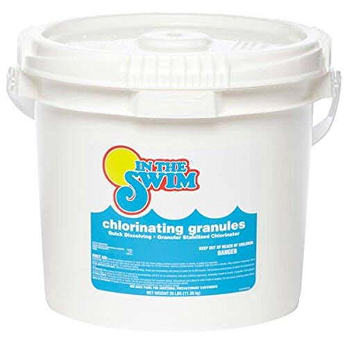 In The Swim Sodium Di-Chlor Chlorine Granular Pool Shock - 25 Pound Bucket
