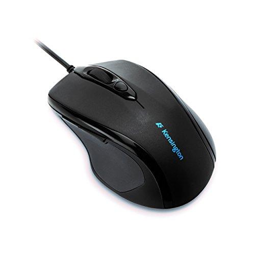 Kensington ProFit Maus, Kabelgebundene Mid-Size-Maus mit ergonomischer Form für Rechtshänder, Plug & Play Betrieb, Kompatibel mit Windows & MacOS, schwarz, K72355EU