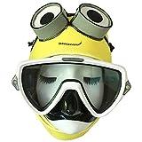 Po-Fishings Máscara de Buceo Snorkel Neopreno de 3 MM Equipo de Buceo de Dibujos Animados Capucha Gorra Casco Protector Solar subacuático Anti-UV cálido Minions