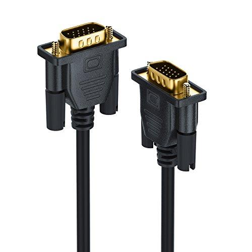 2m Full HD VGA Cavo - contatti Dorati - risoluzioni HDTV Fino 2560x1600-2 Nuclei di ferrite - Nero