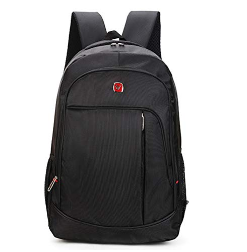 BDLEZI Outdoor travel backpack men and women backpack Oxford cloth waterproof laptop bag student school bag (Color : Black)