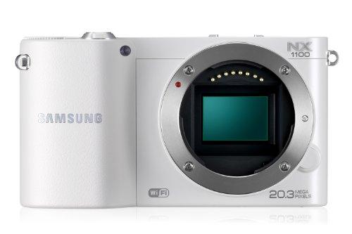 Samsung NX1100 Systemkamera weiss Kit 20-50mm i-Function Kameraobjektiv