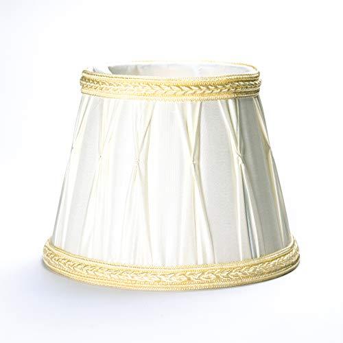 Abat-jour abat-jour en tissu Fuloon pour lustre vintage crème doré