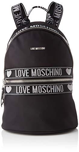 Love Moschino Damen Jc4282pp0a Rucksack, Schwarz (Black Nylon), 14x27x38 Centimeters