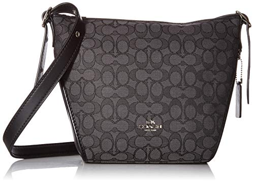 COACH Small Dufflette in Signature Sv/Black Smoke/Black One Size