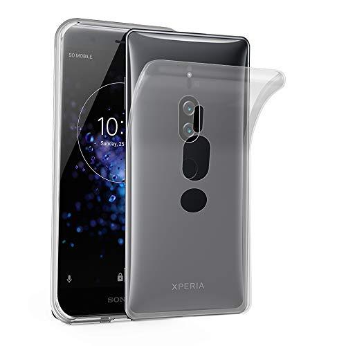 Cadorabo Hülle für Sony Xperia XZ2 Premium - Hülle in VOLL TRANSPARENT – Handyhülle aus TPU Silikon im Ultra Slim 'AIR' Design - Silikonhülle Schutzhülle Soft Back Cover Case Bumper