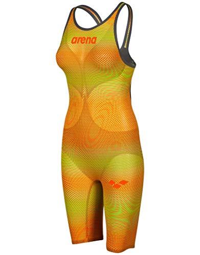 ARENA Powerskin Carbon Air2 Full Body Short Leg Oper Back Badeanzug Damen Lime/orange Größe DE 30 | US 26 2019 Schwimmanzug