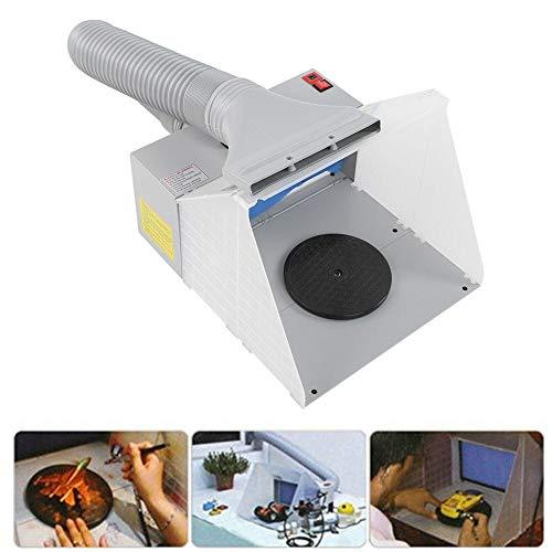 Ejoyous Kit de Manguera para Cabina de Pintura Pintura Artesanía Extractor de olores Hobby Cabina de Pintura portátil con luz LED Mesa giratoria Ventilador Potente con extracción de Filtro