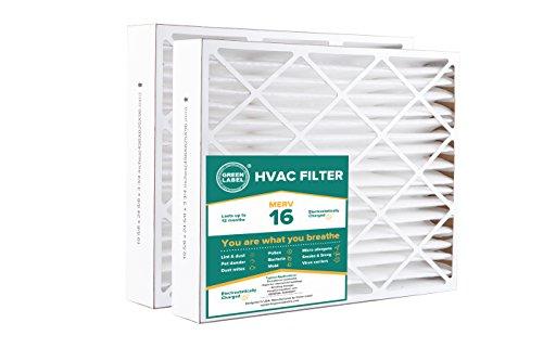 Green Label Brand HVAC Air Filter 20x25x4, AC...