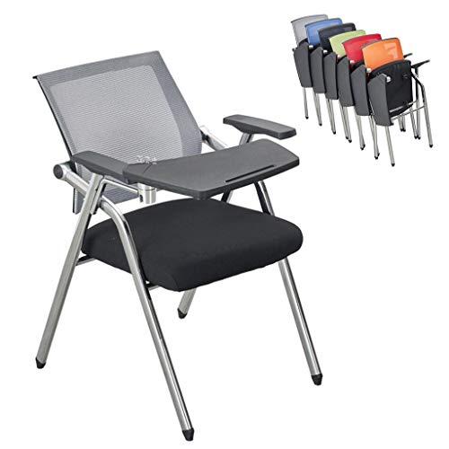Klappstühle Ausbildung Klappstuhl Ausbildung Stuhl Mit Schreibplatte Konferenzraum Ausbildung Chair Student Mit Tisch Und Stuhl Stahlfüße (Color : Gray, Size : 59 * 49 * 87cm)