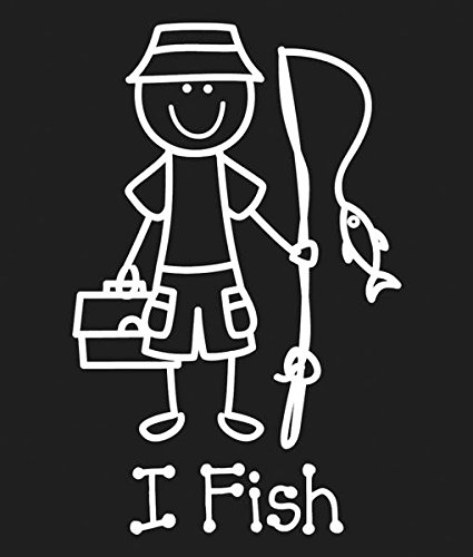 Plaid:Craft Me and My Peeps Family Decals, 4.75-Inch by 6.50-Inch, I Fish