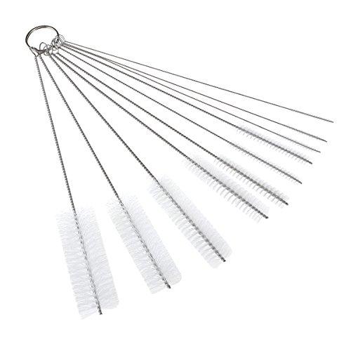 OUNONA Schlauchbürste Set Nylon Reinigungsbürsten Drahtrohr Werkzeug für Reagenzgl?Ser Reinigen,Multifunktional (Pack of 10) (Wei?)