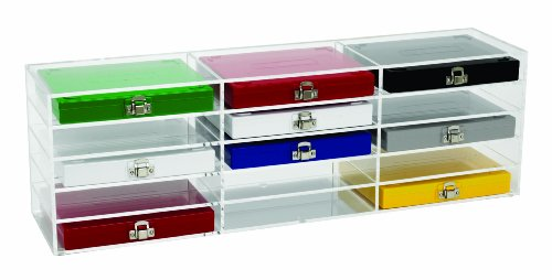 Heathrow Scientific - HEA159890B HD159890B Acrylic Clear Storage Rack, 50-Place and 100-Place Microscope Slide Boxes