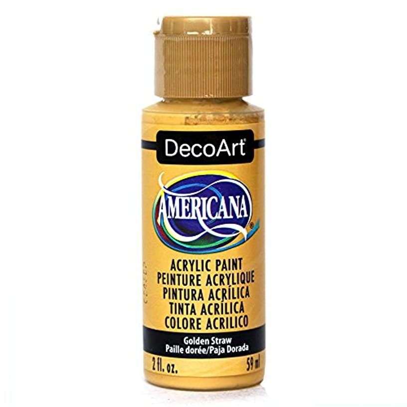 DecoArt Americana Acrylic Paint, 2-Ounce, Golden Straw
