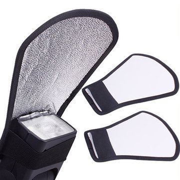 Boosty® Mini Silver/White Flash Diffuser Reflector for Camera (Fun Flash Card)