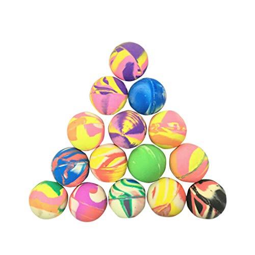 NUOBESTY 25 stücke federbälle gummi kinder bälle spielzeug 25mm mischfarbe