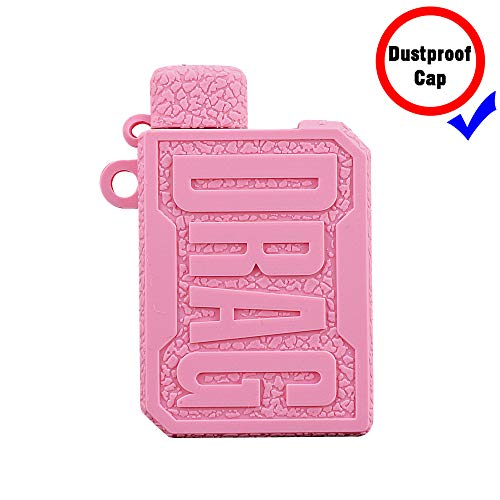 DSC-Mart Texture Case for Voopoo Drag Nano Kit 750mAh Protective Silicone Rubber Sleeve Cover Shield Wrap (Pink)