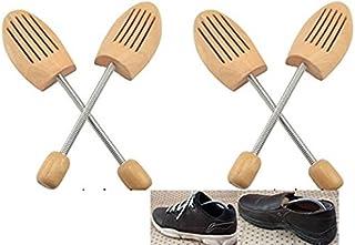 【靴長持ち】 木製 シューキーパー (シューツリー) スプリング式 2足セット メンズ 24.5-28.0cm 左右兼用 【まごころ】