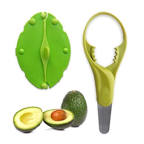 Avocado Slicer, 4-in-1 Avocado Tools(Avocado Splitter/Pitter/Slicer) for All Sizes of Avocado, Free Gift Fruit Fresh Cover