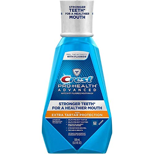 Crest Pro-Health Advanced Mouthwash with Extra Tartar Protection, Refreshing Mint 16.90 oz (Pack of...