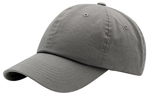 Top Level Baseball Cap Men Women-Cotton Dad Hat Plain,LGY Light Grey