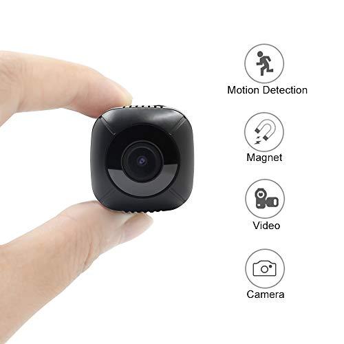 Cámara Espía Oculta Mini Cámara de Seguridad TANGMI 1080P HD Cámara de Video Portátil Cámara Nanny Cámaras de Vigilancia Hogar Videocámara con Detección de Movimiento Ángulo de Visión de 120