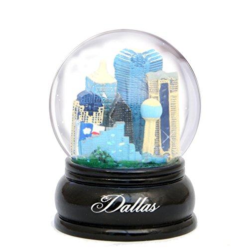 Dallas Snow Globe 3.5 Inch with Dallas Texes Skyline Snow Globes
