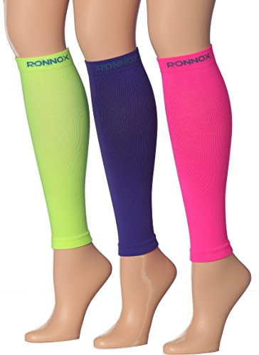 Calf Compression Sleeve 3-Pairs (12-14 mmHg is Best Athletic & Medical for Men & Women,Travel,Running,Nurses,Flight,Edema (CP02-A-M