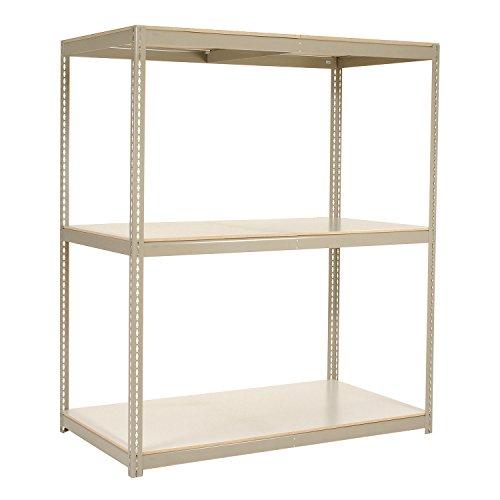 "Wide Span Rack with 3 Shelves Laminated Deck, 900 Lb Cap Per Level, 72""W x 48""D x 84""H, Tan"