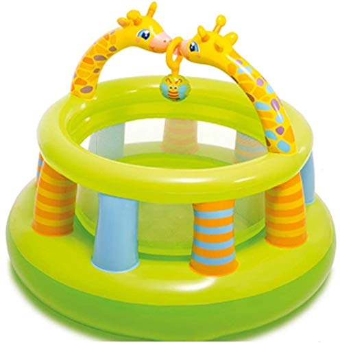 AXWT Children's Inflatable Toys Sports Toys Children's Indoor Trampoline Children's Pool Home Children's Play Fence Inflatable Toy Castle Kids Toys Give Your Child The Best (Color : Green, Size : 122