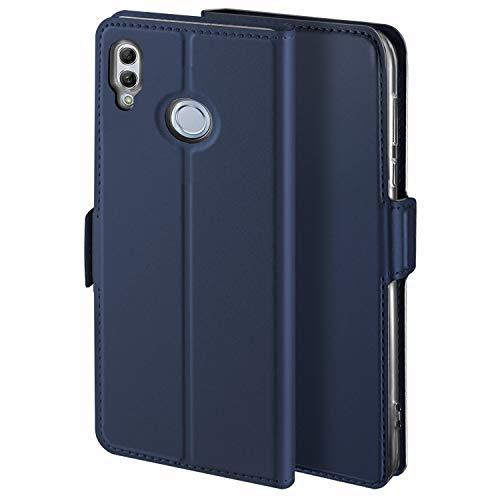 YATWIN Coque Huawei P Smart 2019, Portefeuille Etui Housse pour Huawei P Smart 2019/Honor 10 Lite en Cuir PU Premium Flip avec Carte Fente, Stand Feature, Fermeture Magnétique - Bleu.