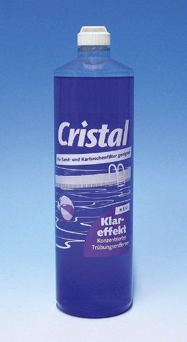 Cristal Klareffekt 1 Liter - Konzentrierter Trübungsentferner für alle Pools mit Kartuschenfilter