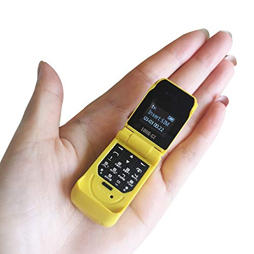 LONG-CZ J9 Latest Mini Flip Bluetooth Dialer with Voice Changer Mobile Cell Phone (Yellow)