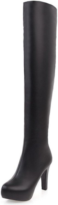 AicciAizzi Women Fashion Zipper Thin Heel Over Knee Boots
