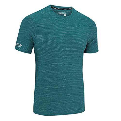 Cxypeng Jungen Sportshirt - Laufshirt,Cooles, atmungsaktives Kurzarm-T-Shirt aus Eisseide, Mesh-Stretch, schnell trocknend, blau_7XL,Trainingsshirt Kurzarm Top