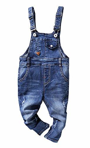 CYSTYLE Neue Latzhose Baby Kleinkind Jungen Jeanshose Baumwolle Tasche Jeans Hosen Baby Kinder Overall (110/Körpergröße 98-104cm)