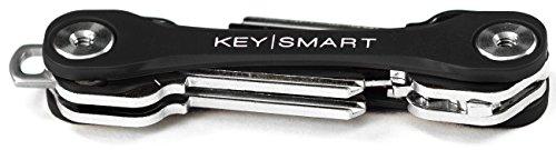 KeySmart Lite | Kompakter Schlüsselhalter und Schlüsselbund Organisator (2-8 Schlüssel, Schwarz)