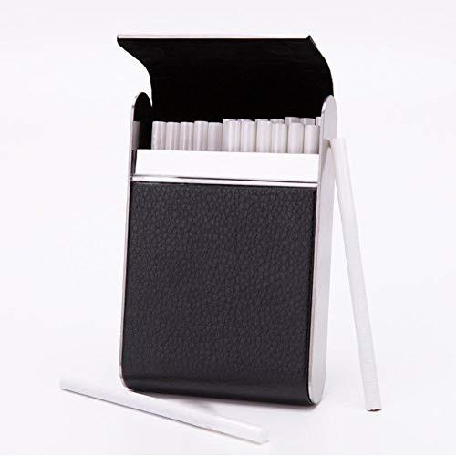 Denash Sostenga 20 Cigarrillos Fumador de Acero Inoxidable para Mujer Estuche para...