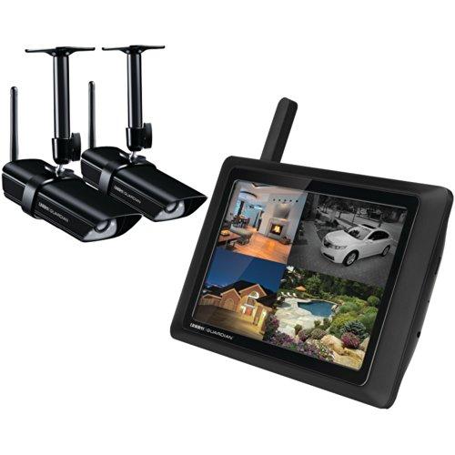 "Uniden G955 Wireless 9"" Video Surveillance Monitor with 2 Outdoor/Indoor Cameras (Black)"