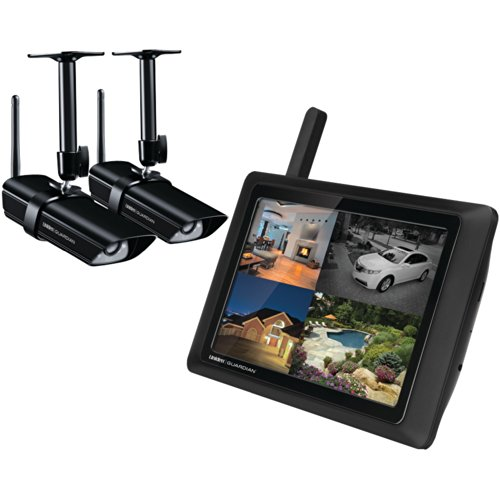 Uniden G955 Wireless 9' Video Surveillance Monitor with 2 Outdoor/Indoor Cameras (Black)