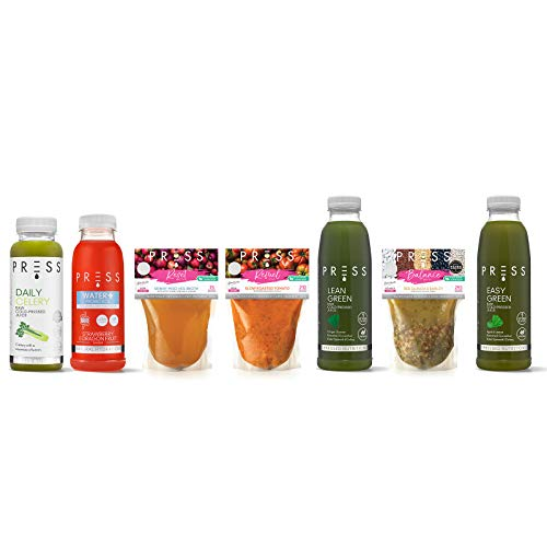 Press London- Energise- 2 Days -Cleanse Soup & Juice Diet- Celery & Green Juice, Probiotic Water & Soup Selection- Vegan Meal Replacement
